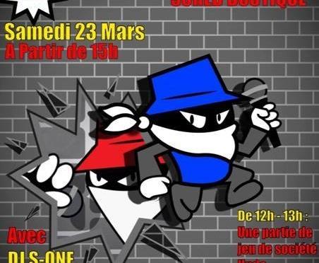 SHOWCASE à la Scred boutique Samedi 23 Mars avec DJ S-One et d'autre artistes à venir découvrir.