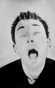 Tom York du groupe Radiohead